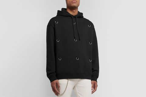 Embellished Fleece Hoodie