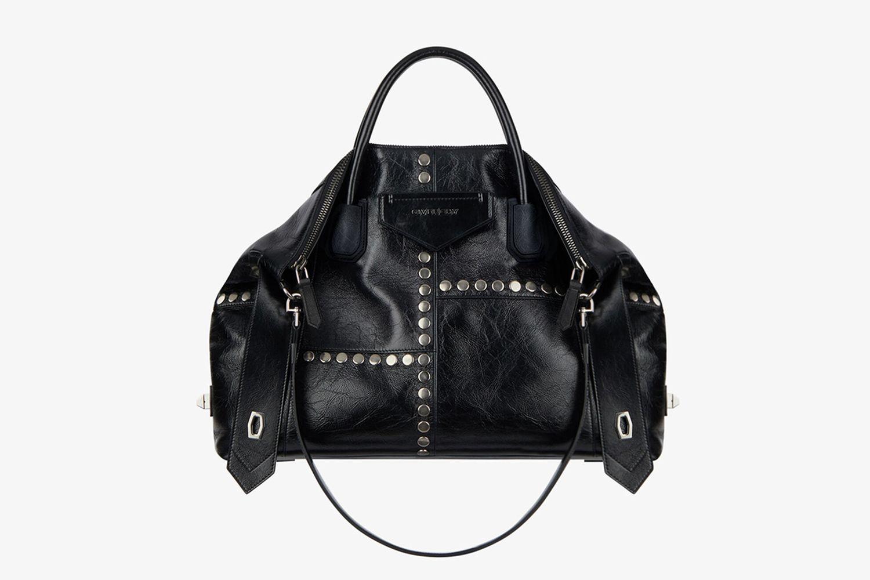 Medium Antigona Bag in Vintage Leather With Studs