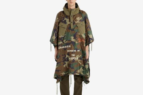 World Tour Quilted Camo Poncho