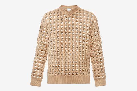Open Mesh Sweater