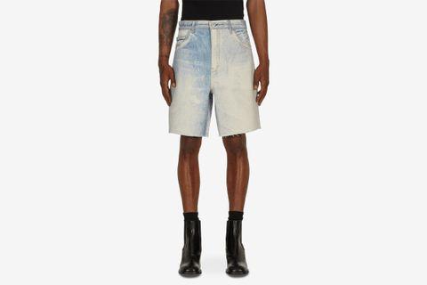 Short Cut Denim Shorts