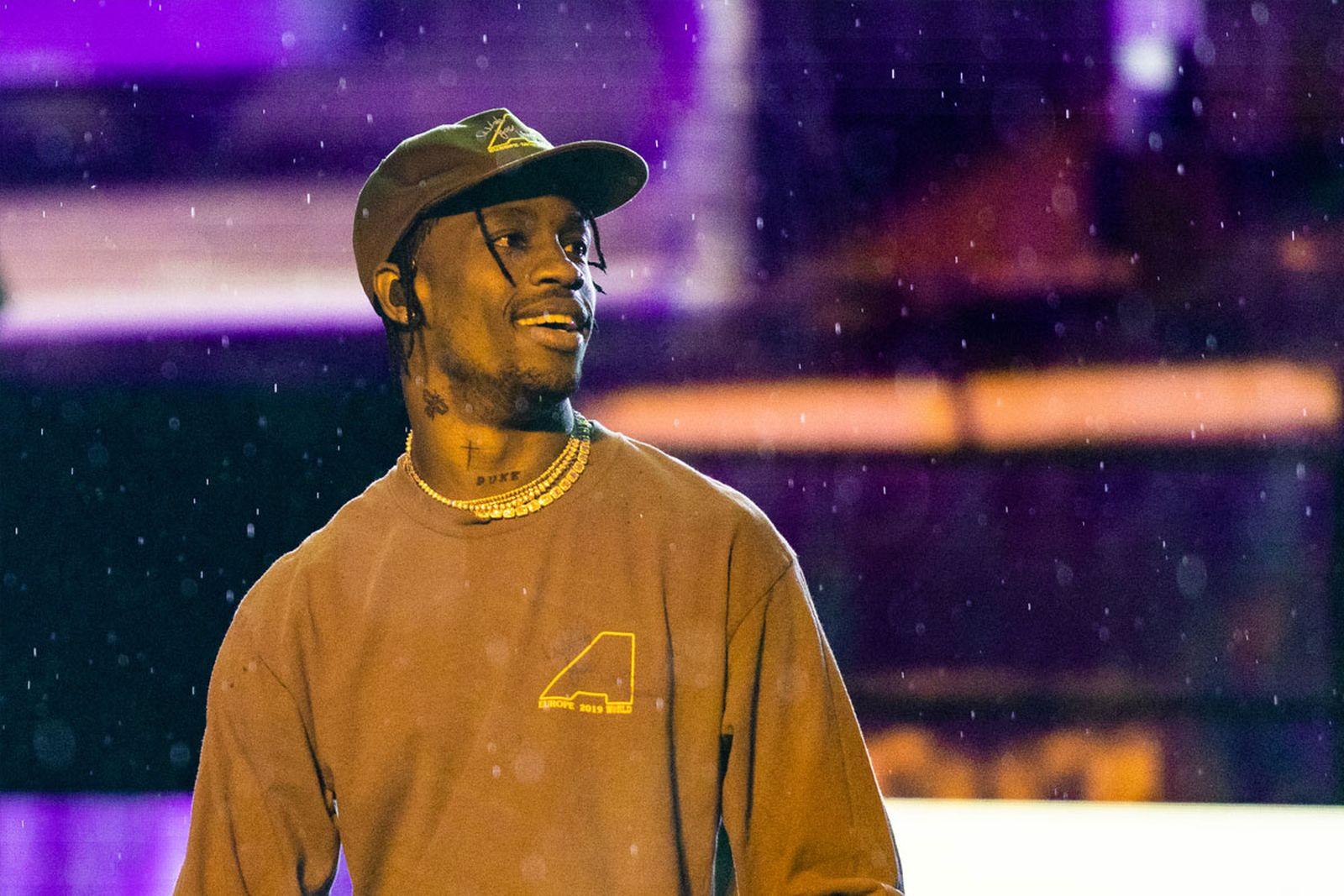 Travis Scott brown shirt cap