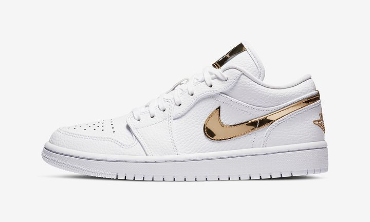 Nike Air Jordan 1 Low White/Metallic Gold