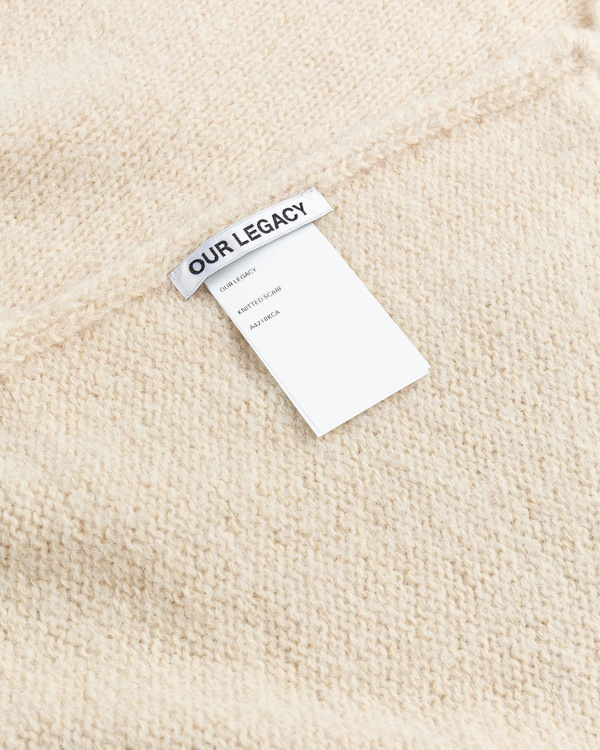 Our Legacy – Knitted Scarf Camel - Image 3