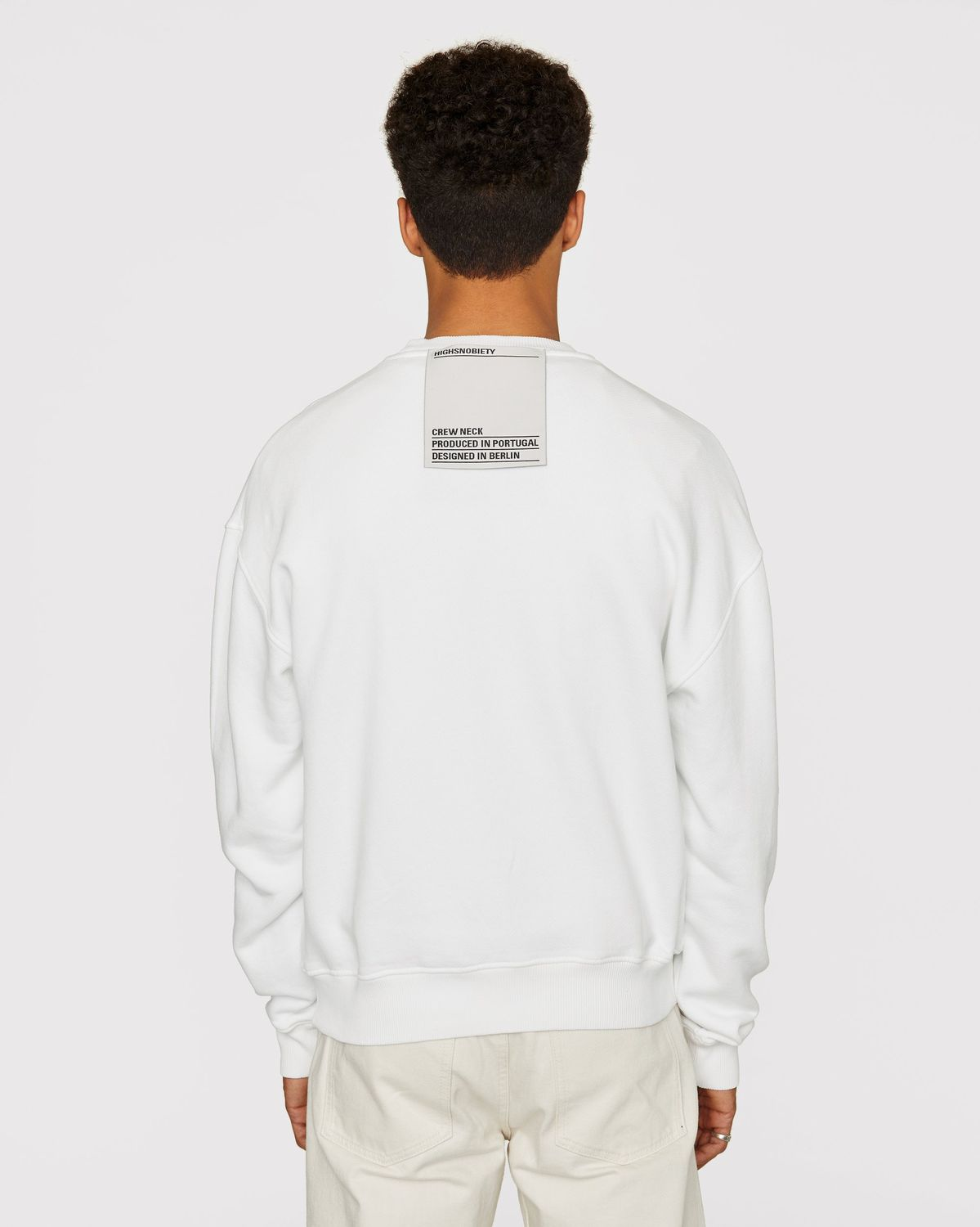 Highsnobiety Staples — Sweatshirt White - Image 3