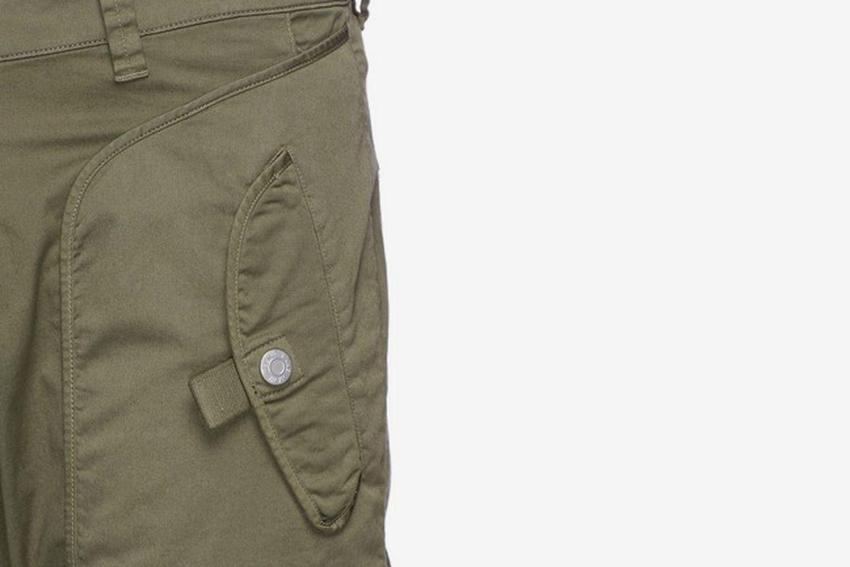 'Utility' Twill Moto Pants