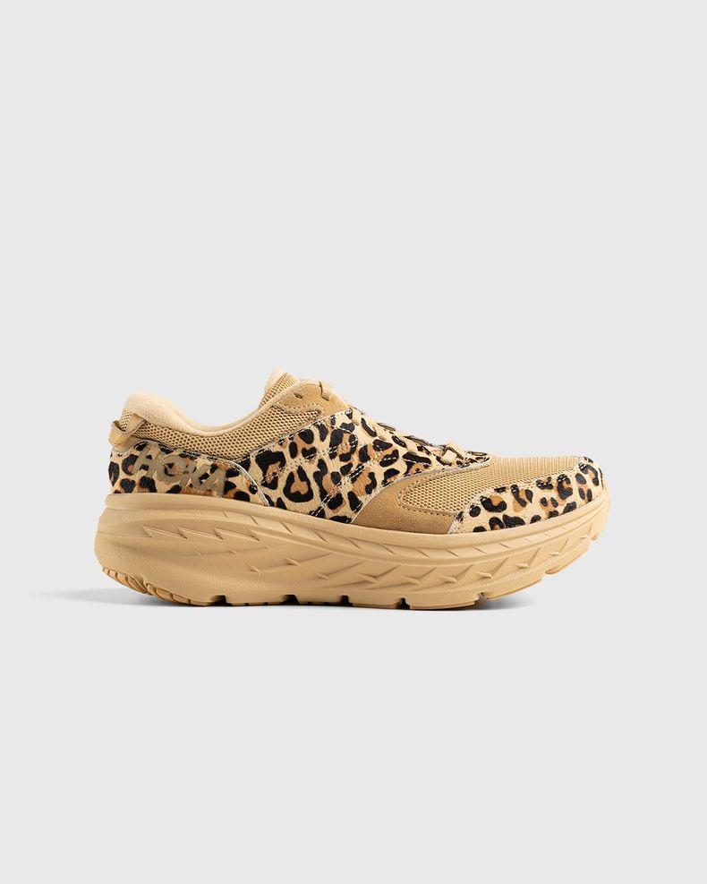 HOKA x Engineered Garments – Bondi L Sand Leopard Print