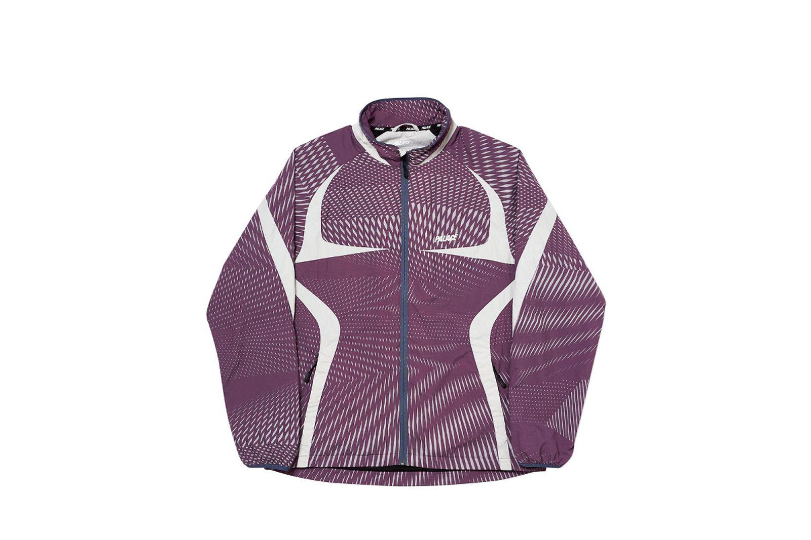 Palace 2019 Autumn Jacket Dazzler Shell plum grey front