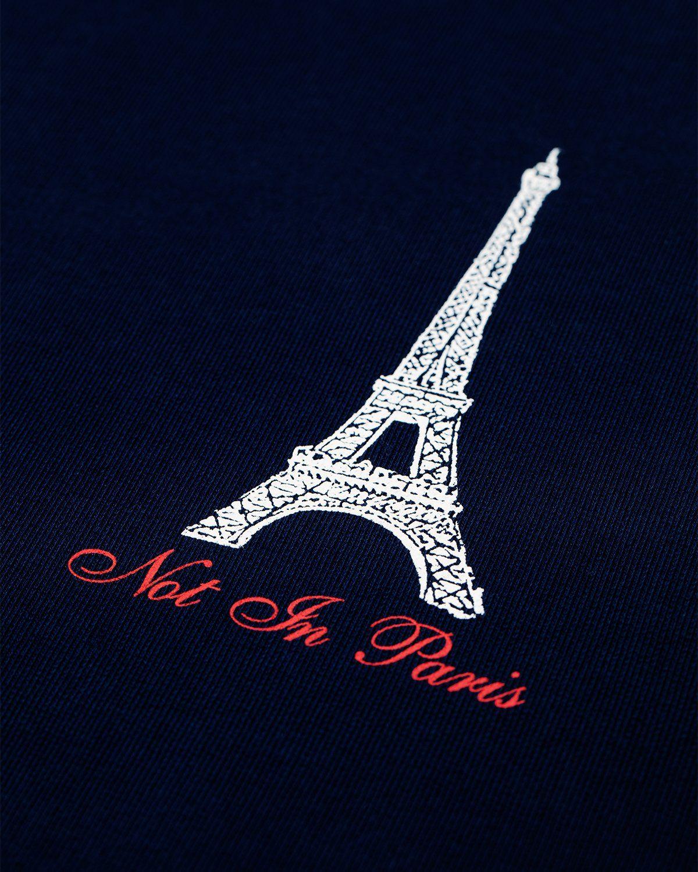 Not In Paris Eiffel Tower Hoodie Navy - Image 3