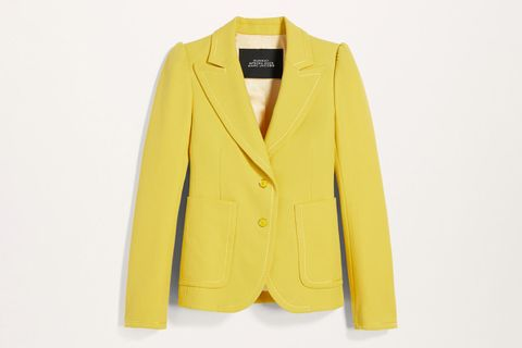 Fitted Blazer With Puff Sleeve
