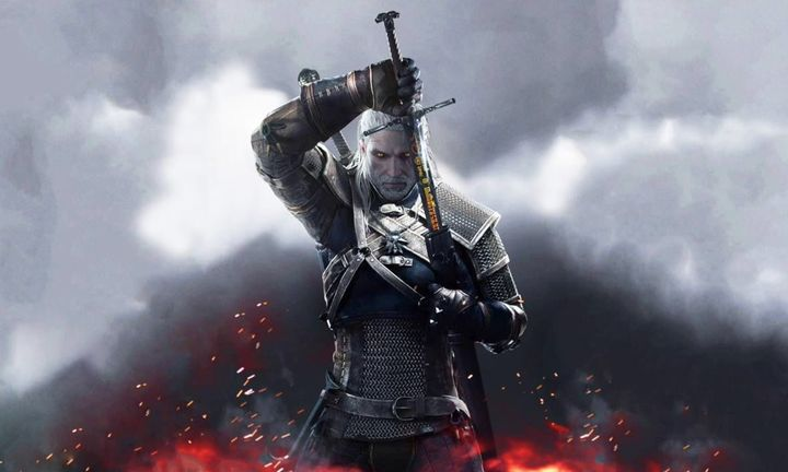 The Witcher 3 carrying sword