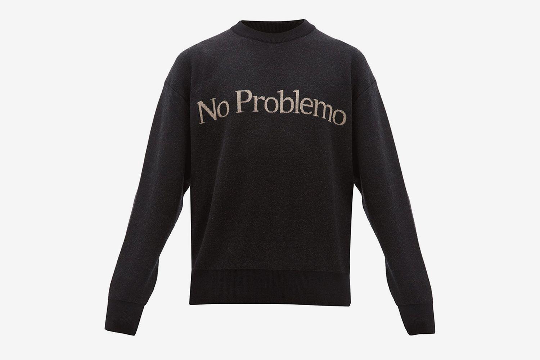 No Problemo Jacquard Wool Sweater