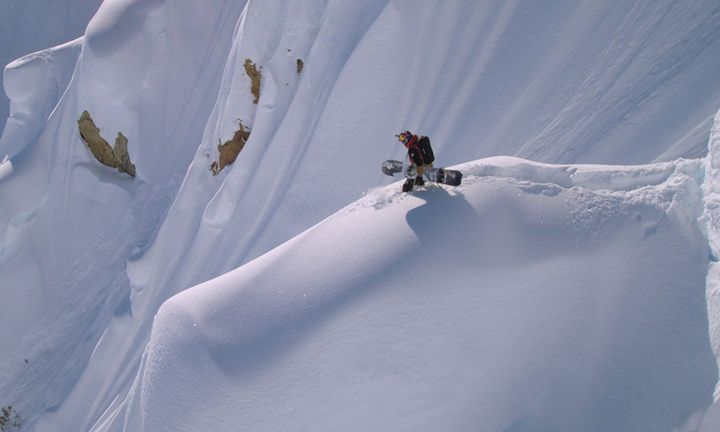 Travis Rice in snowboarding film 'Dark Matter'
