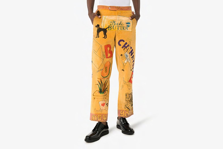 Senior Illustrated Corduroy Trousers
