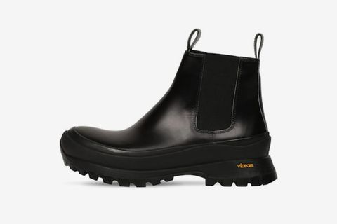High-Top Leather Chelsea Boots
