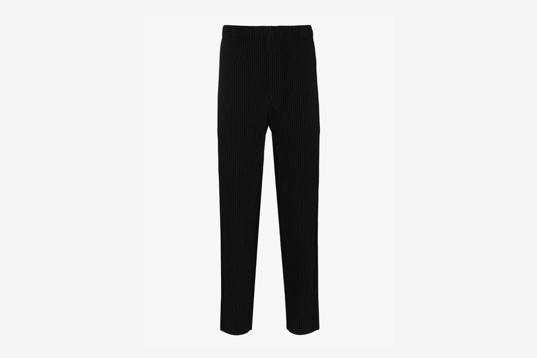Plissé Skinny Trousers