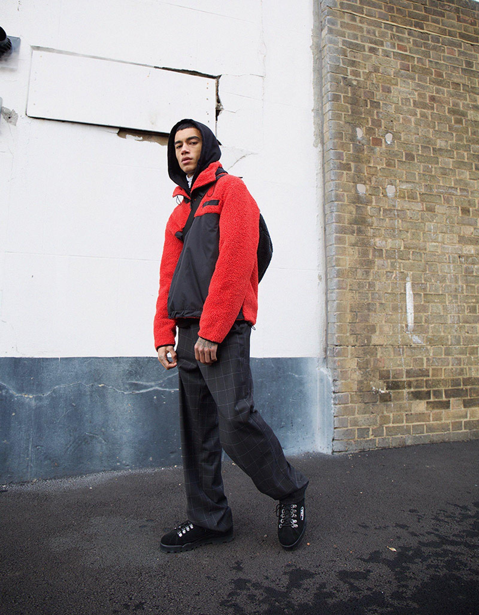 Hunter Anorak, Joel Hoodie, Sala Trousers & Park Pile Shoulder Bag