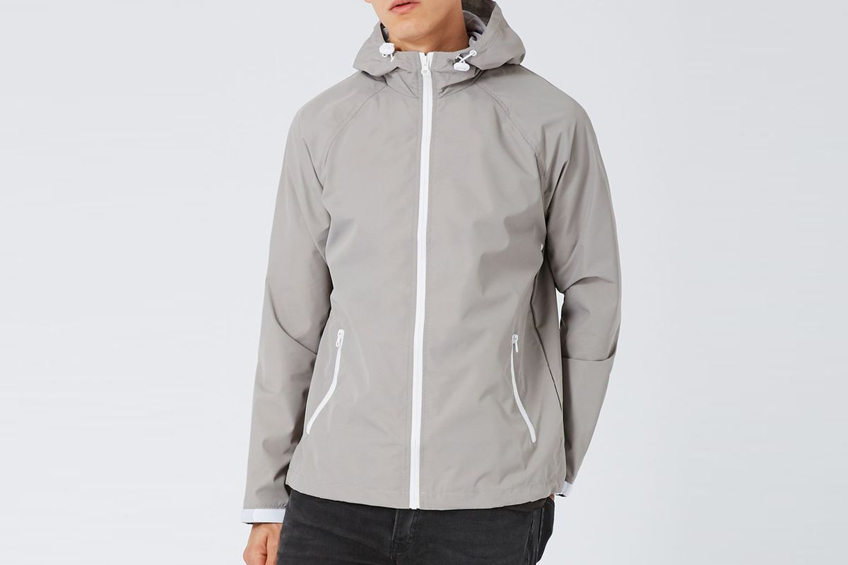 Zip through shell jacket