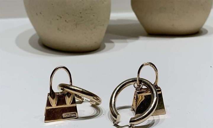 Jacquemus miniature bag earrings