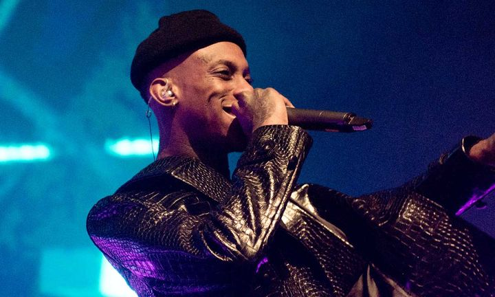 Octavian performing on stage