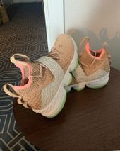 """277b1590d48 LeBron James Spotted Wearing Nike LeBron 15 """"Air Yeezy 1"""""""