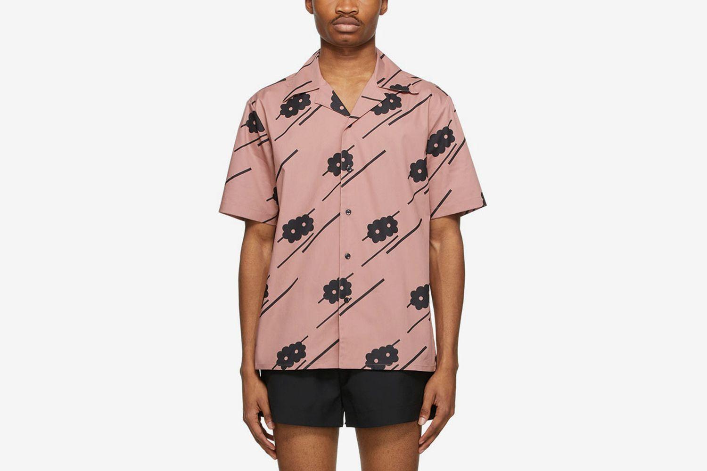 Floral Bowling Short Sleeve Shirt