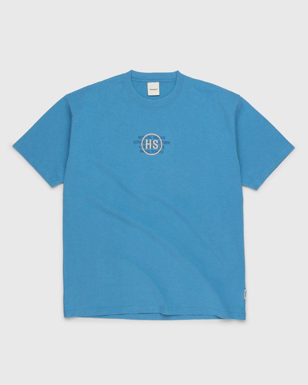 Highsnobiety – Logo T-Shirt Blue - Image 1