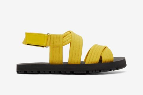 Yellow Strap Sandals