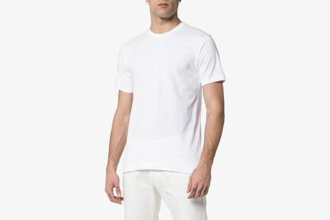 Logo Print Short-sleeved Cotton T-shirt