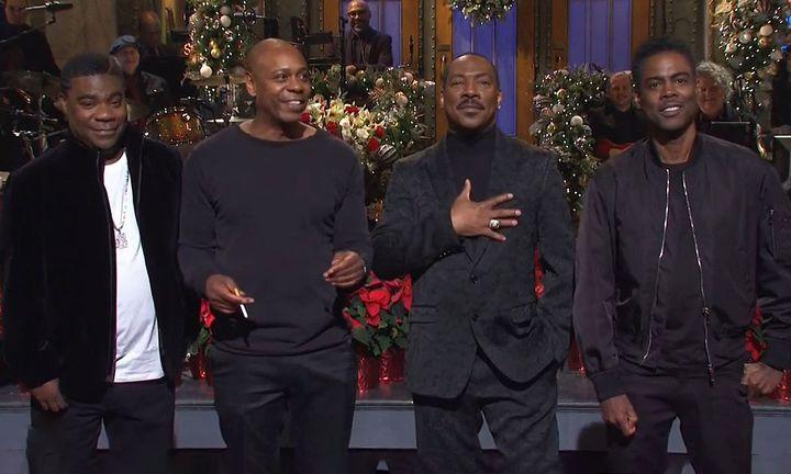 Eddie Murphy, Tracy Morgan, Chris Rock & Dave Chappelle on SNL