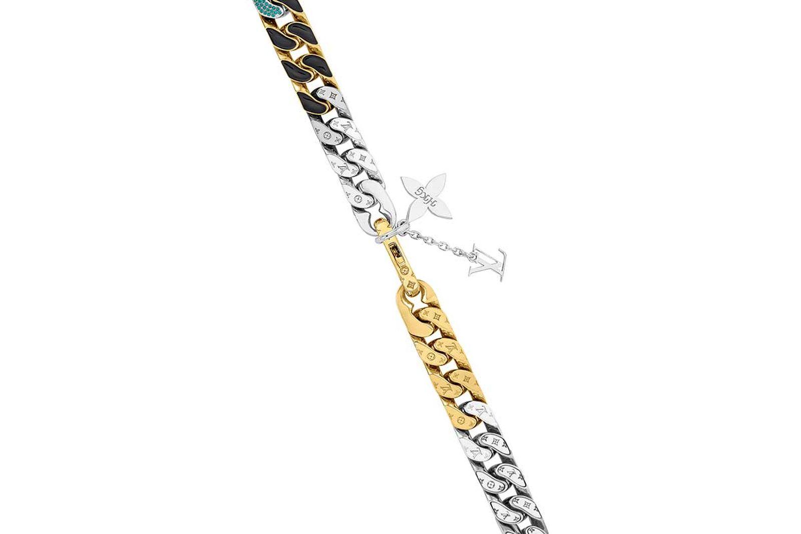 louis vuitton lv chain link neckalces (6)