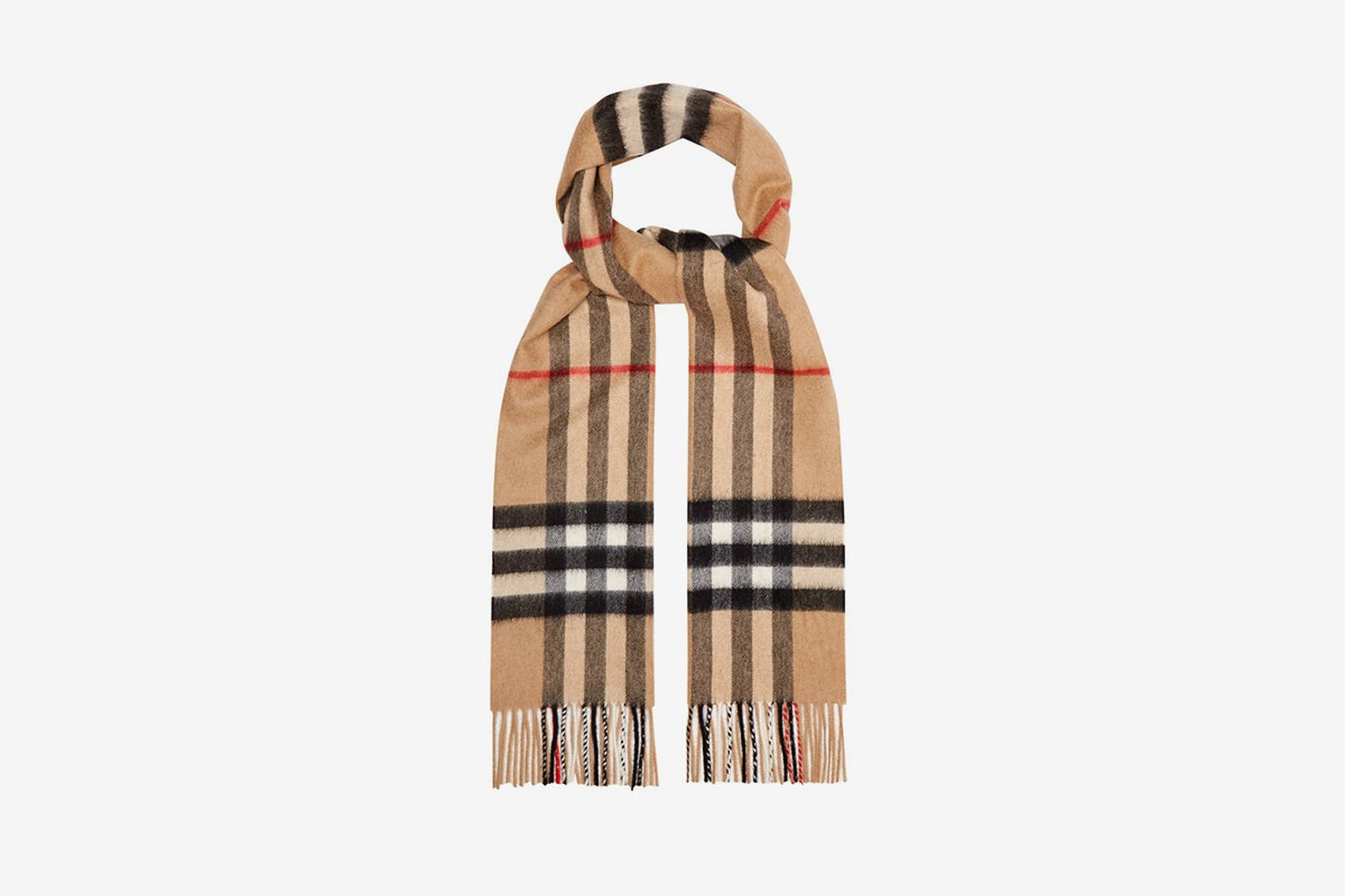 House Check Cashmere Scarf