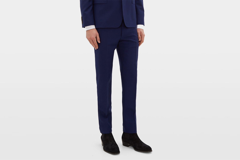 Slim-Leg Wool-Blend Trousers