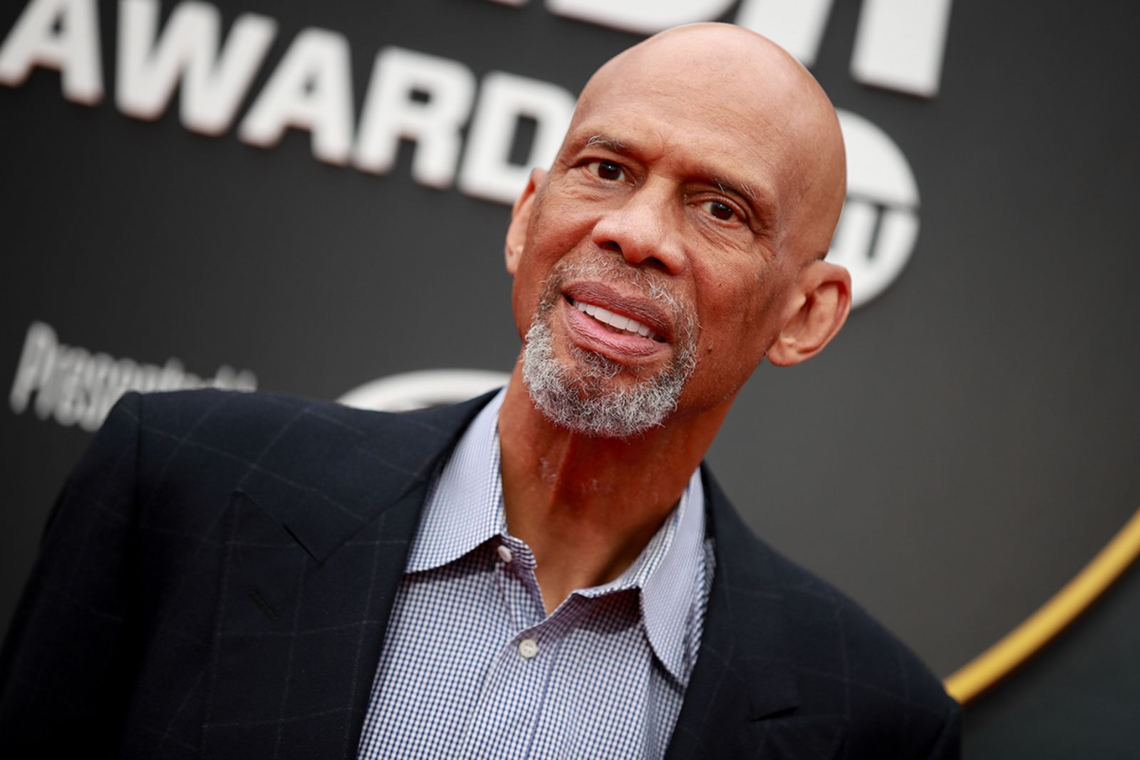 Kareem Abdul-Jabbar attends the 2019 NBA Awards at Barker Hangar