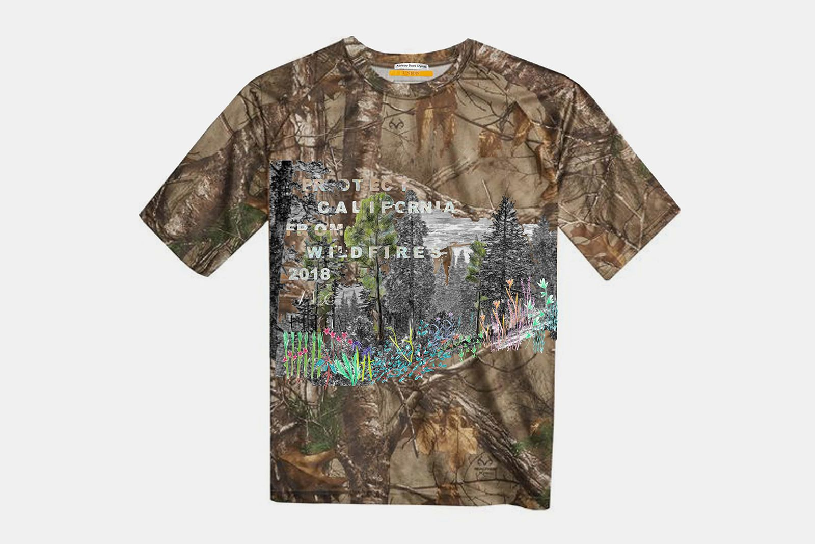 advisory board crystals union wildfires t shirt union los angeles