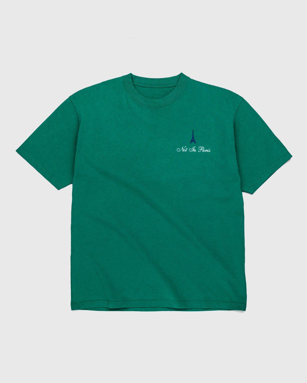Highsnobiety — Not in Paris 3 T-Shirt Green - Image 2