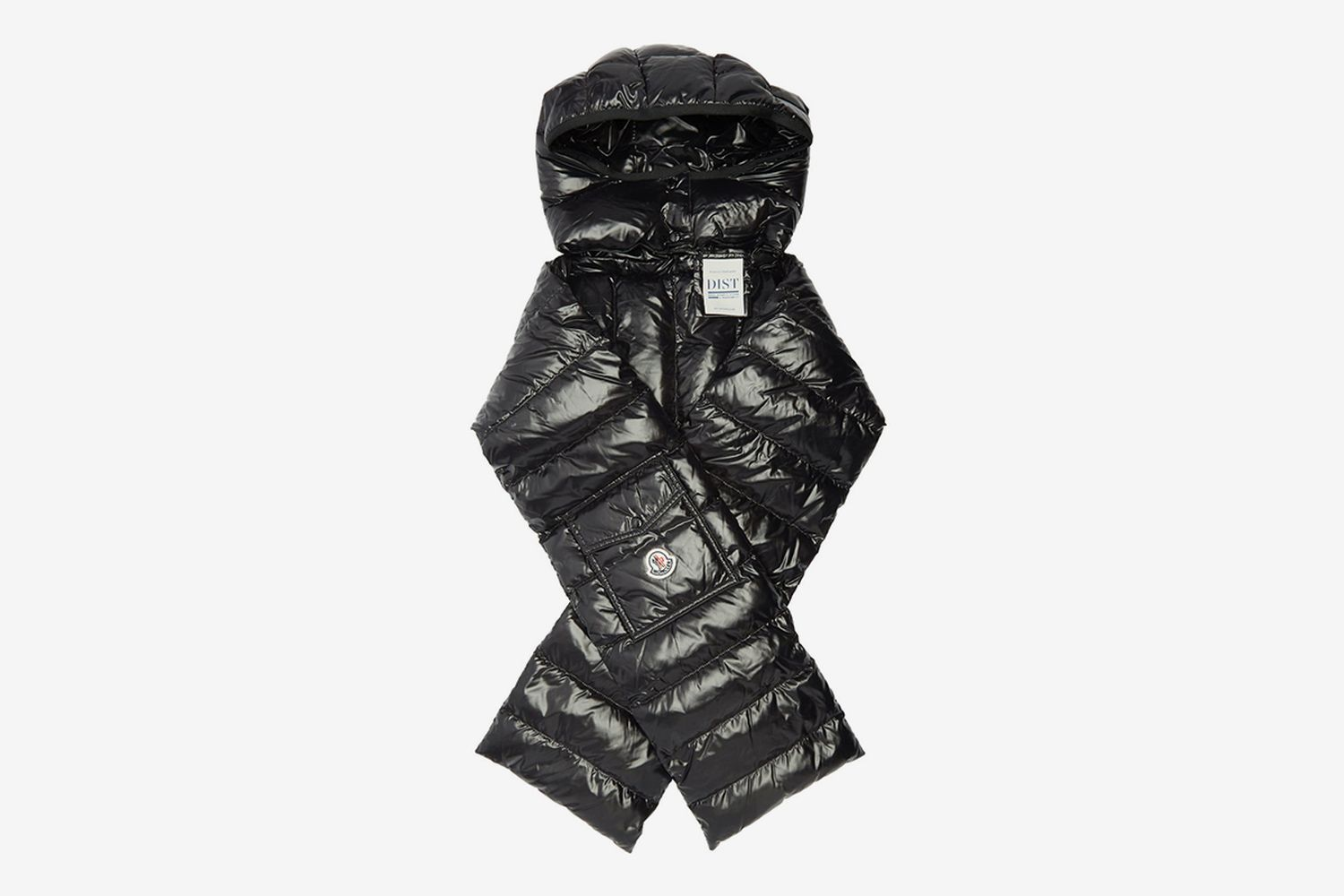 Hooded Quilted-Down Scarf