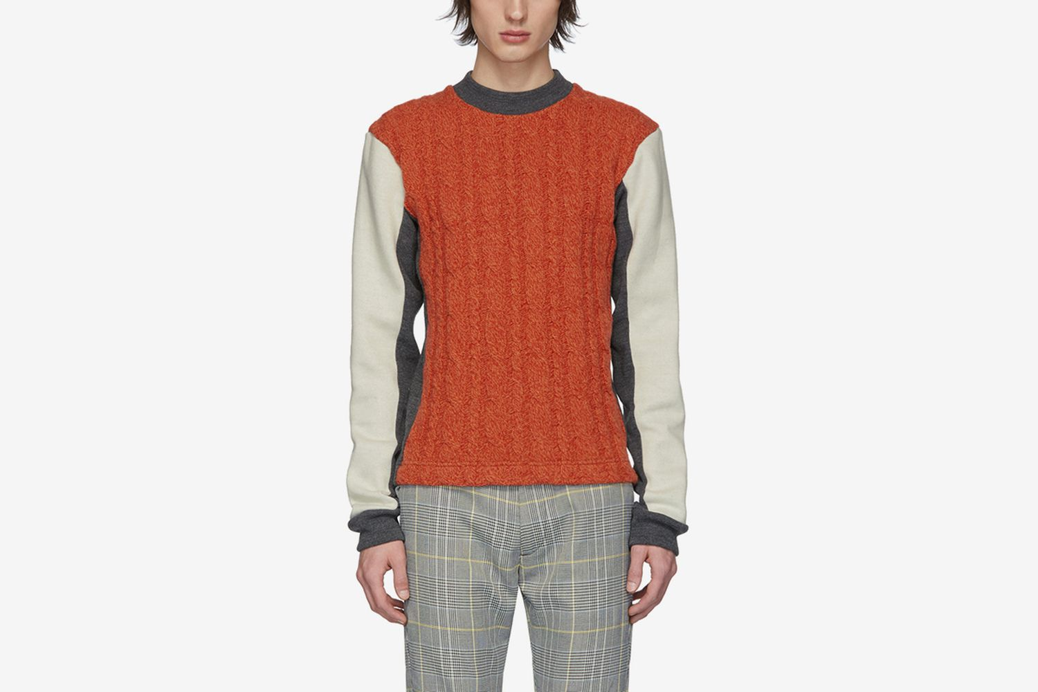 Woolmark Collection Panelled Cable Sweater