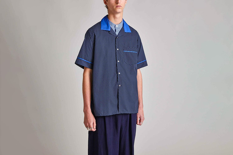 Matta - Cotton Hawaiian Contrast Collar Shirt
