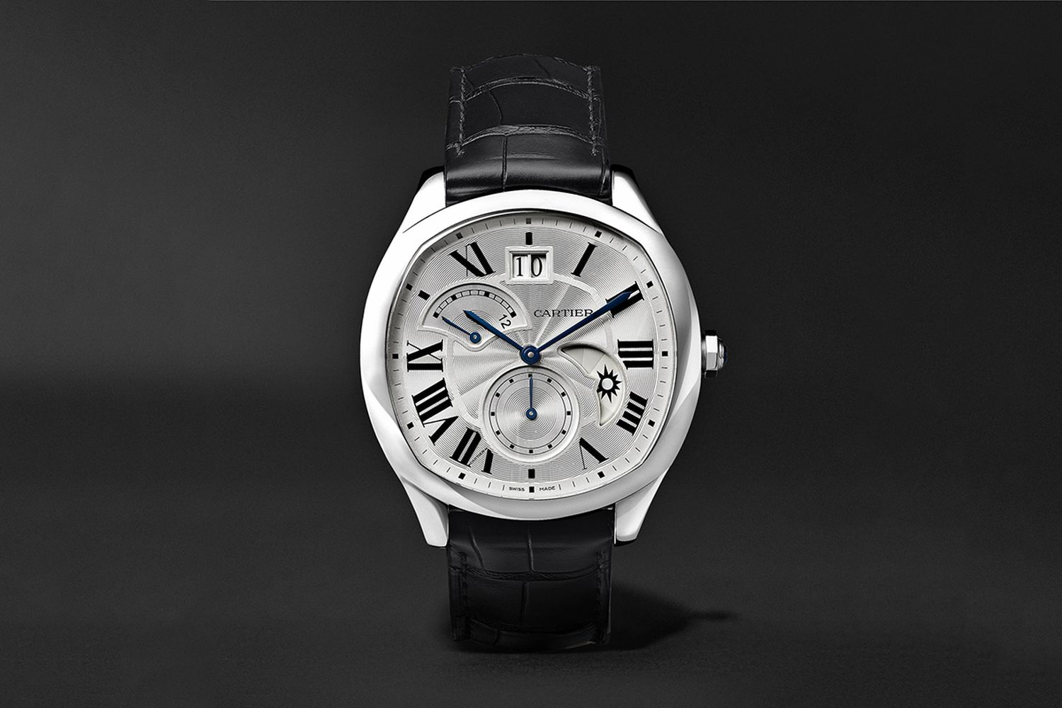 Drive De Cartier Automatic 40mm Steel And Alligator Watch