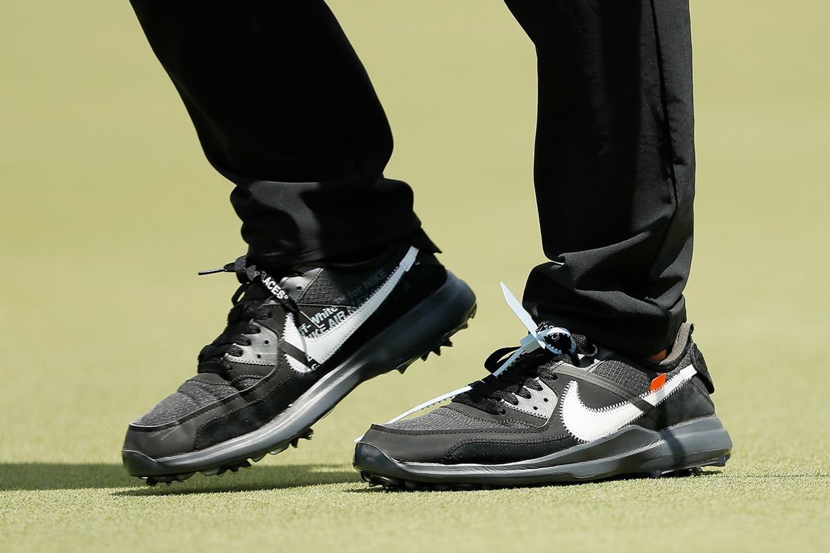 Brooks Koepka Off-White Nike golf shoes