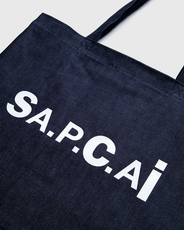 A.P.C. x Sacai — Shopping Bag Candy Dark Navy - Image 6
