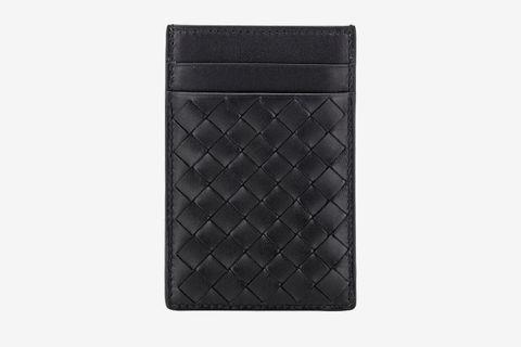 Bottega Veneta Intrecciato Money Clip Card Case