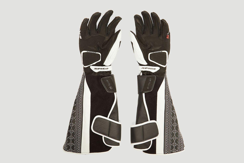 Akin Reclaimed Leather Biker Gloves