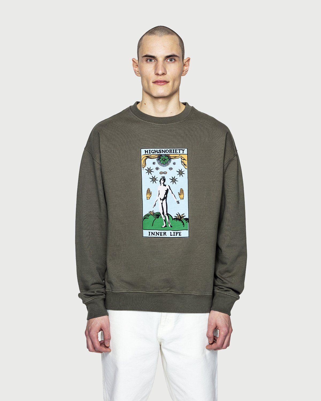 Highsnobiety — Inner Life Sweatshirt Light Military Green - Image 2