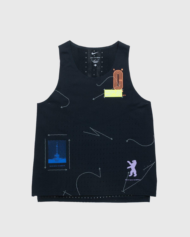 Nike x Highsnobiety – Womens Dri-Fit Berlin Aeroswift Singlet Black - Image 1