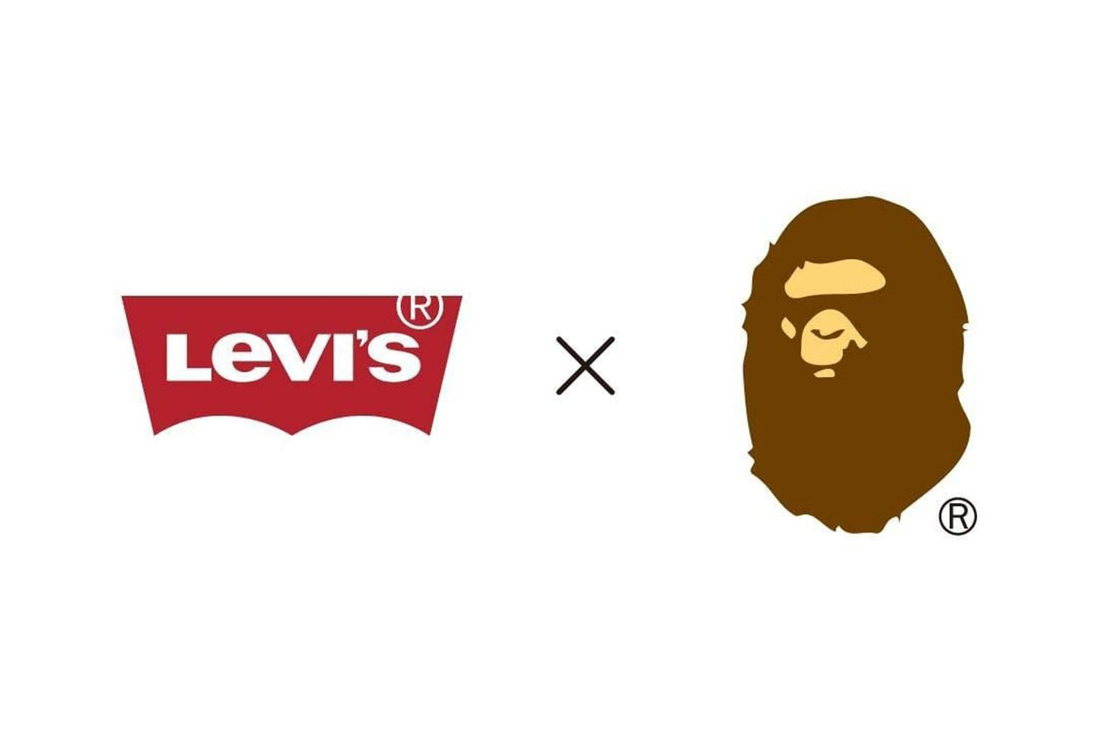 BAPE Levi's collaboration announcement