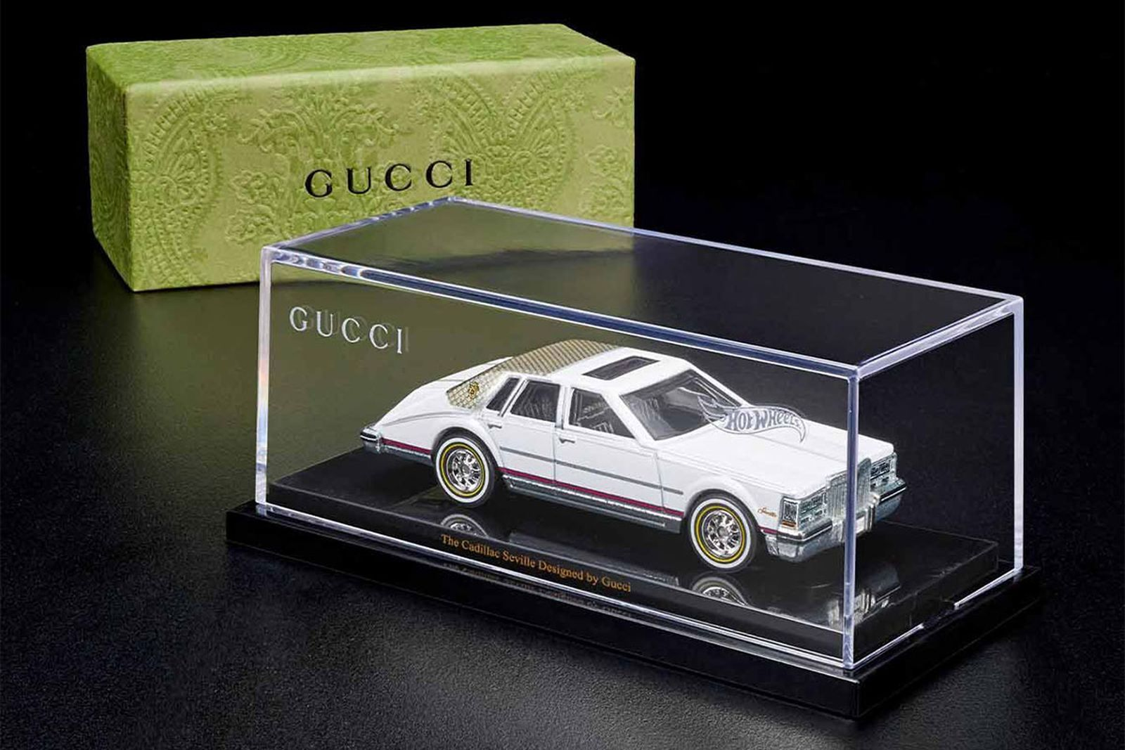 gucci hot wheels cadillac seville mattel creations release date info buy