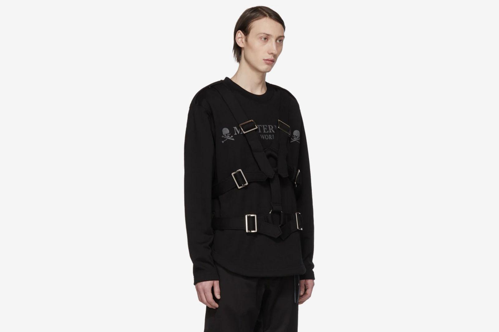 mastermind world black straps sweatshirt ssense