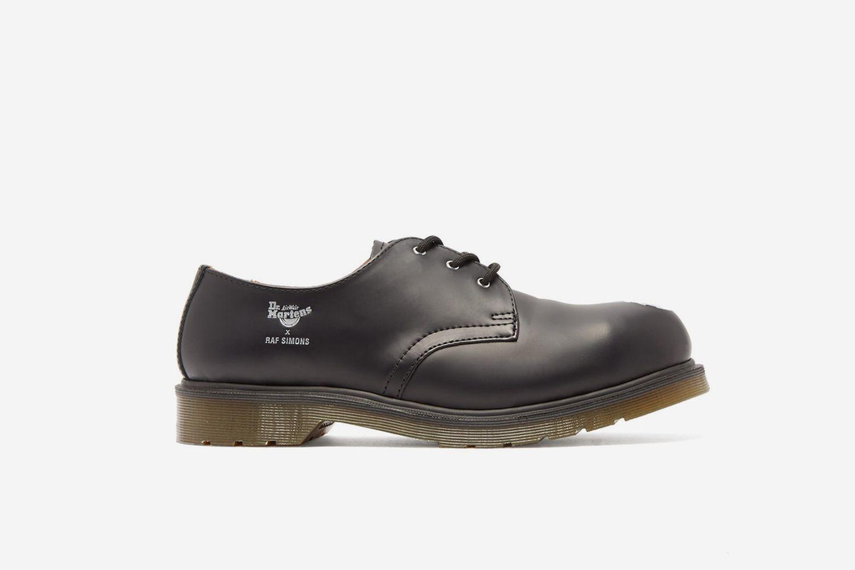 Asymmetric Steel-Toe Leather Shoes